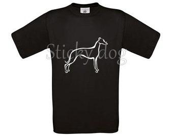 T-shirt Whippet silhouette