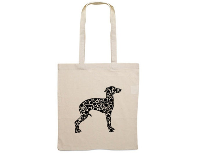 Canvas dog bag Italian greyhound/ sighthound silhouette
