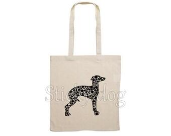 Canvas dog bag Italian greyhound/ sighthound silhouette