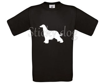 T-shirt Afghan hound silhouette