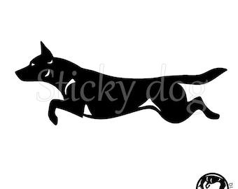 AUSTRALIAN KELPIE Car Sticker Farmer Barb Dog Window Sign Decal Gift Pet V01