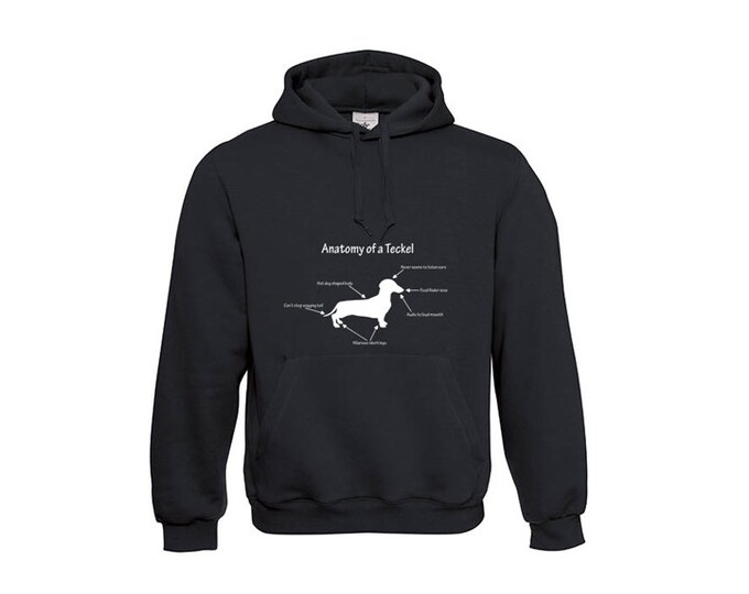 Hoody Smooth-haired Dachshund - Teckel silhouette