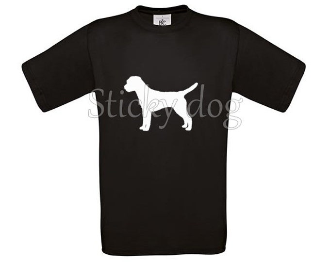 T-shirt Border Terrier silhouette