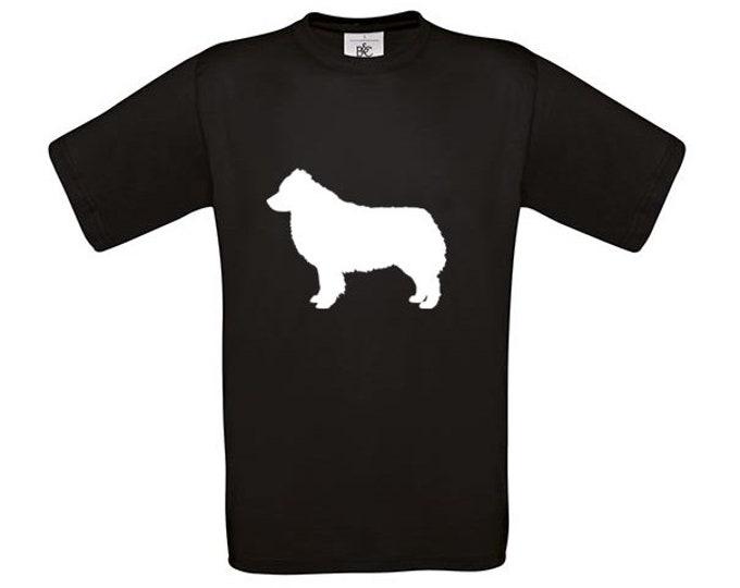 T-shirt Australian Shepherd dog silhouette