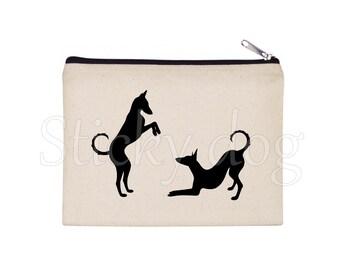 Podenco ibicenco dog silhouette pencil bag / Beaty case / pouch