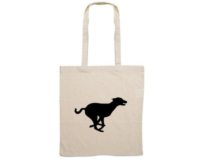 Canvas bag Basenji dog silhouette