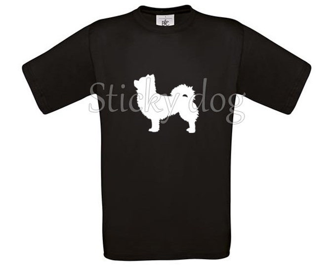 T-shirt longhaired Chihuahua silhouette