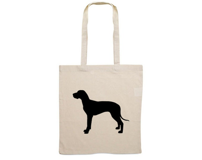 Canvas bag Great Dane dog silhouette