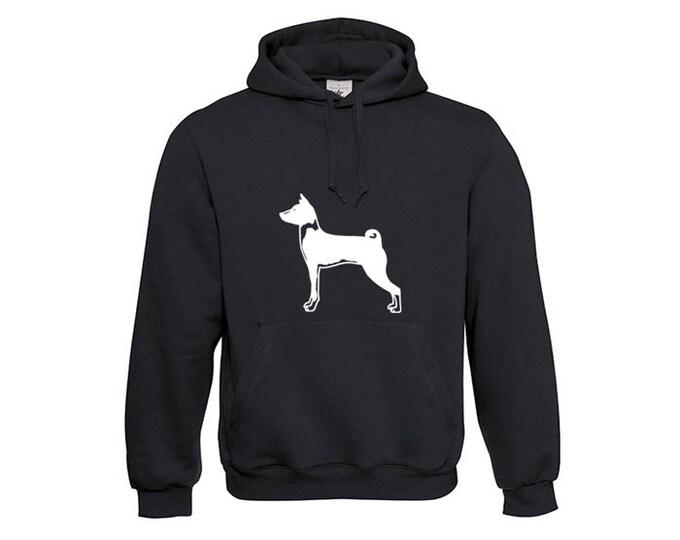 Hoody Basenji dog silhouette