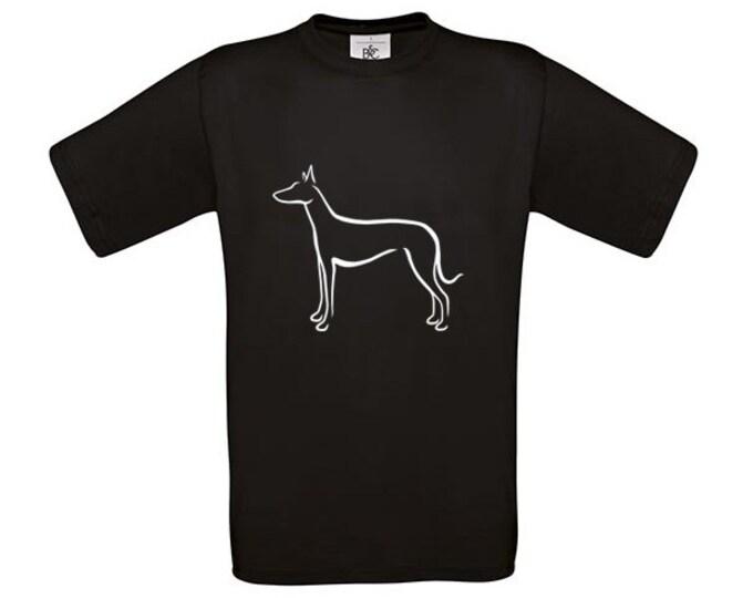 T-shirt Podenco Ibicenco silhouette dog