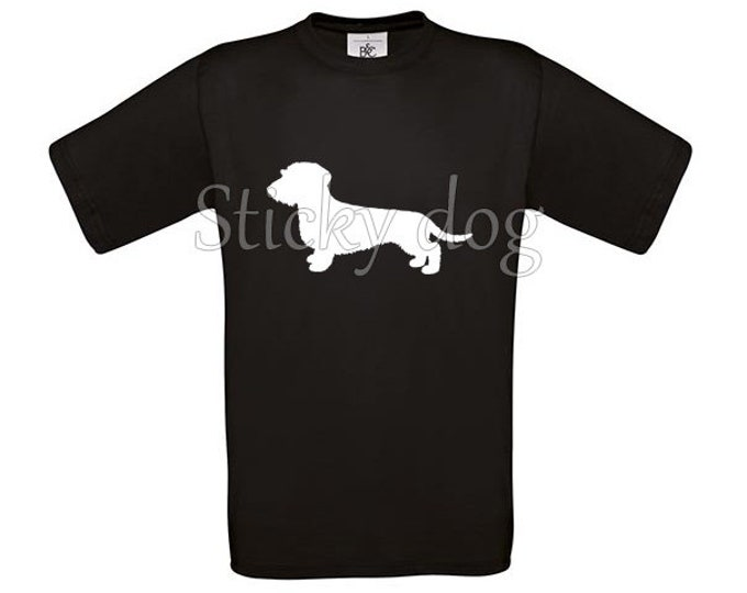 T-shirt Wire-haired Dachshund - Teckel silhouette