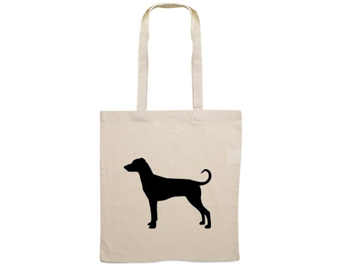 Canvas bag German Pinscher dog silhouette