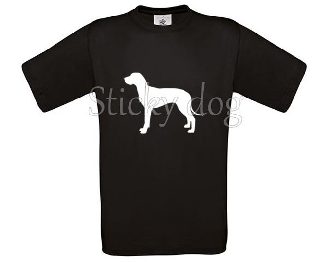T-shirt Great Dane dog silhouette