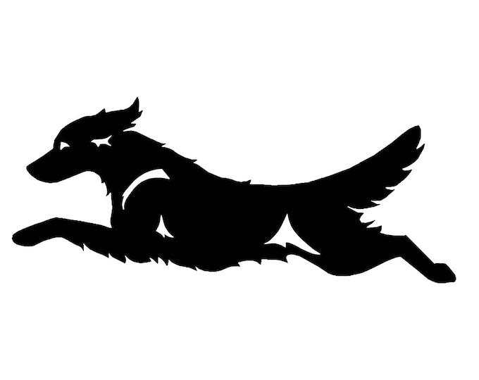 Golden retriever silhouette dog sticker, LeChienArtistiQ