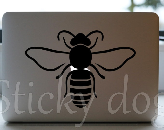 Honey bee silhouette sticker