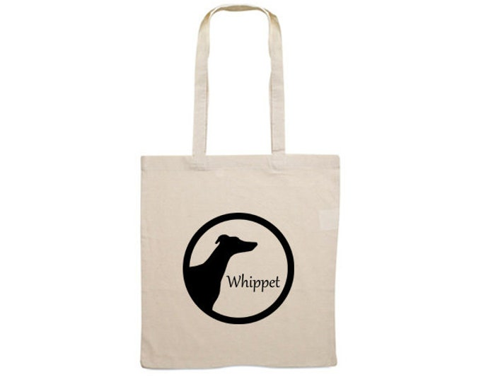 Canvas bag Whippet dog silhouette