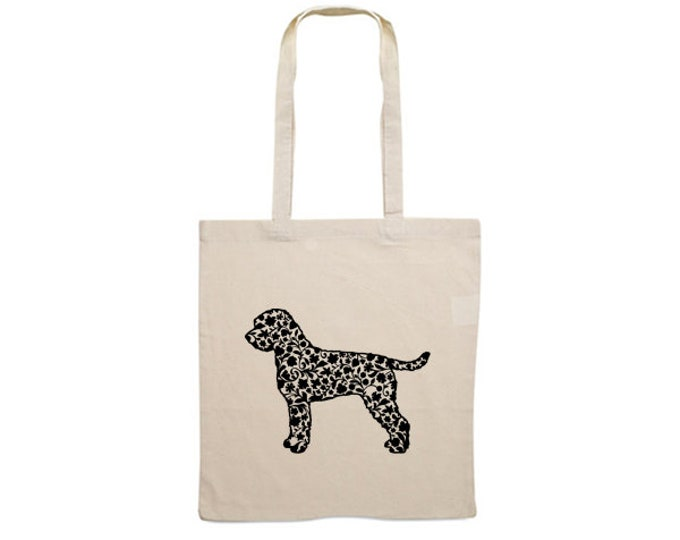 Canvas dog bag Lagotto Romagnolo silhouette