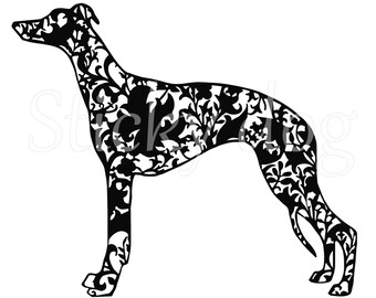 Whippet Arts and Crafts patron sticker