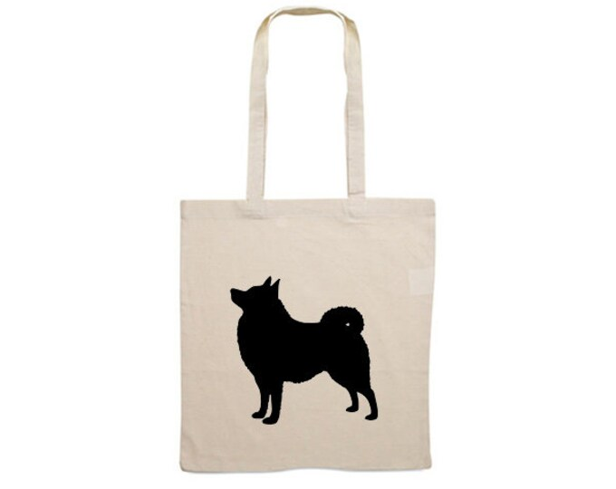 Canvas dog bag Schipperke silhouette