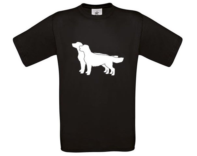 T-shirt Golden retriever dog silhouette