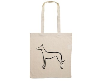 Canvas bag Podenco Ibicenco dog silhouette