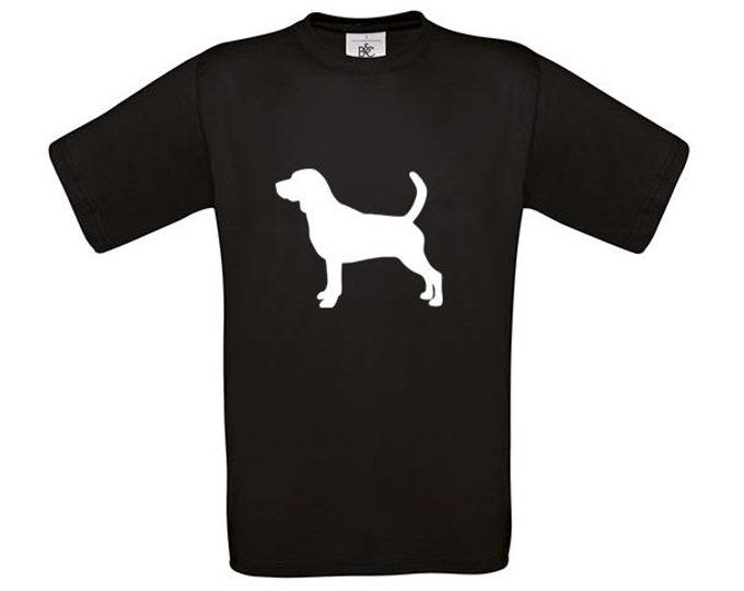 T-shirt Beagle silhouette