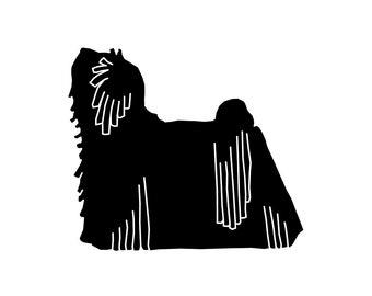 Puli dog silhouette, LeChienArtistiQ
