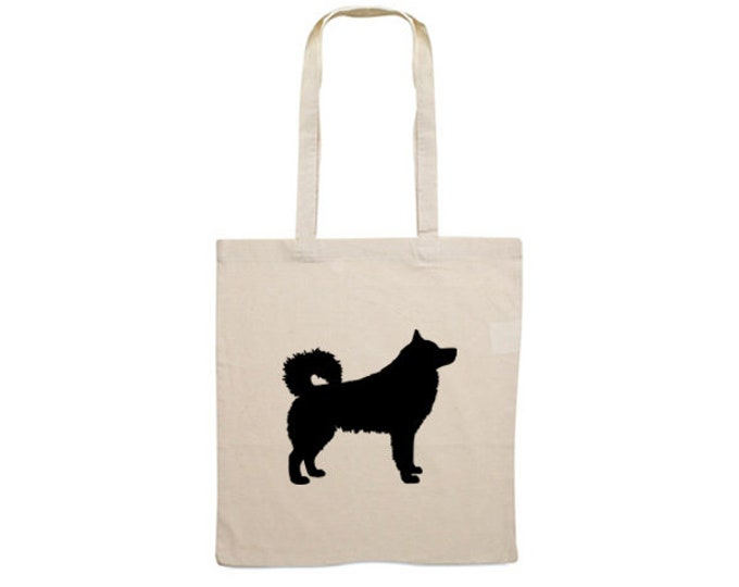 Canvas bag Alaskan Malamute dog silhouette