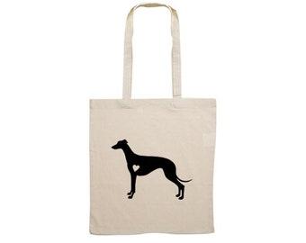 Canvas bag Greyhound heart