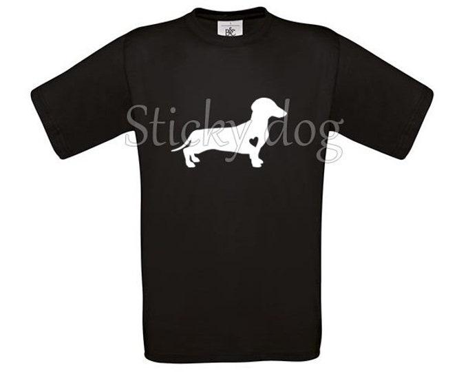 T-shirt Smooth-haired Dachshund - Teckel silhouette