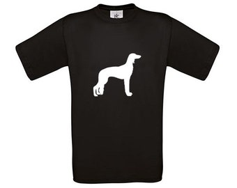 T-shirt Saluki dog silhouette