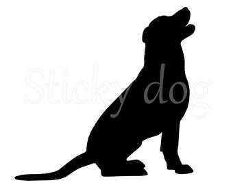 Labrador retriever silhouette sticker