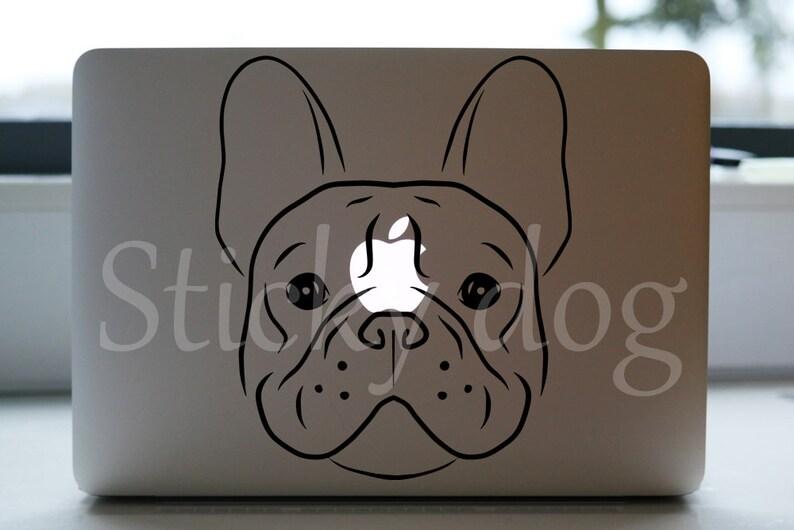 French Bulldog silhouette dog sticker image 0
