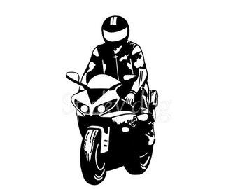 motor rider sticker