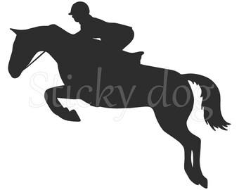 Jumping horse sticker