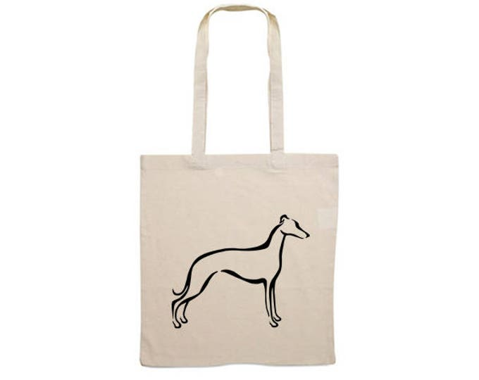 Canvas bag Whippet tribal