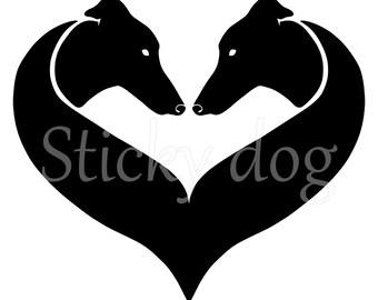 Greyhound silhouette sticker