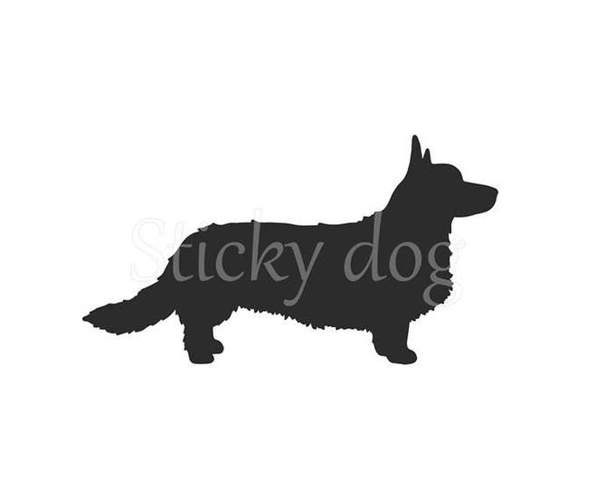 Cardigan Welsh Corgi silhouette sticker