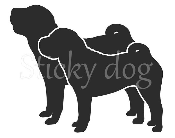 Shar pei silhouette sticker