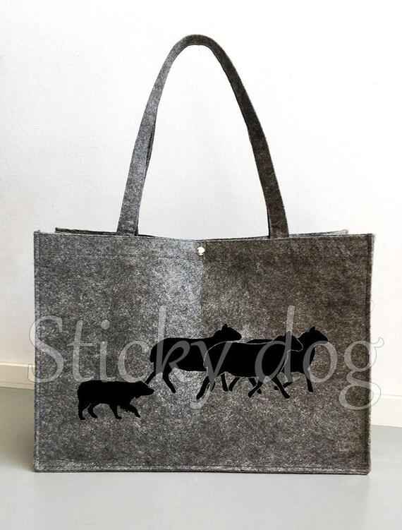 Sheep Herd Hand Screen-Printed Tote Bag