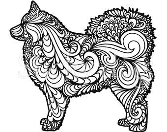 Finnish Lapphund silhouette sticker