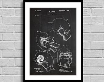Boxing Glove Patent, Boxing Glove Patent Poster, Boxing Glove Blueprint, Boxing Glove Print, Boxing, Sports Decor, Athlete Gift, p740