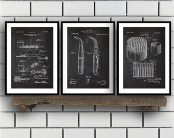 Cigar and Smoking Invention Poster - 3 PACK set,  Cigar Patent, Cigar Prints, Cigar Gifts, Cigar Art, Cigar Wall Decor, Cigar Wall Art SP203