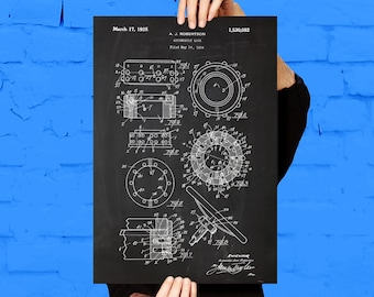 Automobile Lock Patent, Automobile Lock Poster, Automobile Lock Blueprint,  Automobile Lock Print, Automobile Lock Art p1086