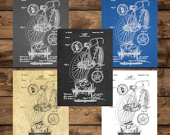 INSTANT DOWNLOAD - Bicycle Print, Bicycle Poster, Bicycle Patent, Bicycle Decor, Bicycle Art, Bicycle Blueprint, Bicycle Wall Art