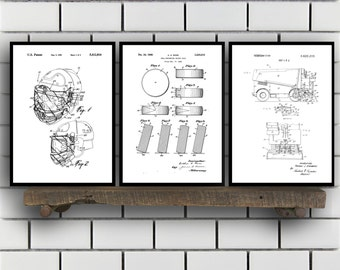 Hockey Patents Set of 2 Prints, Hockey Prints, Hockey Posters, Hockey Blueprints, Hockey Art, Hockey Wall Art, Sport Prints, Sport Art Sp299