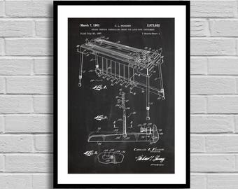Fender Pedal Steel Guitar Patent,Fender Pedal Steel Guitar Patent Poster,Fender Pedal Steel Guitar Blueprint,Fender Pedal Steel Guitar p775