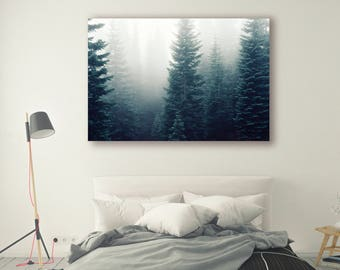 Foggy mountain Print Large Wall Art Print Fine Art Photography Print Nature Photography Neutral Wall Decor Art Decor Forest PH05