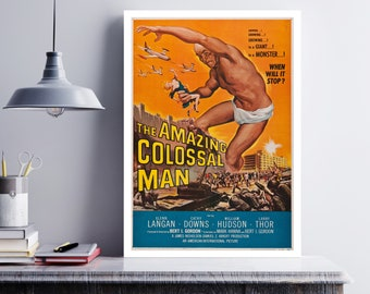 MOVIE poster vintage The Amazing Colossal Man Classic Horror space poster Poster Art Vintage Print Art Home Decor movie posterMonsters sp609