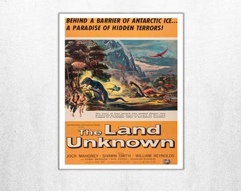 MOVIE poster vintage The Land Unknown Classic Horror poster Poster Art Vintage Print Art Home Decor movie poster Movie Decor Vintage sp648
